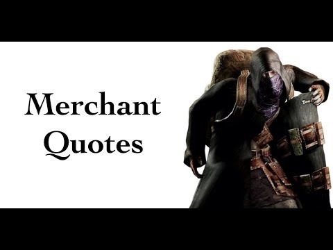 Re4 The Merchant Quotes Youtube