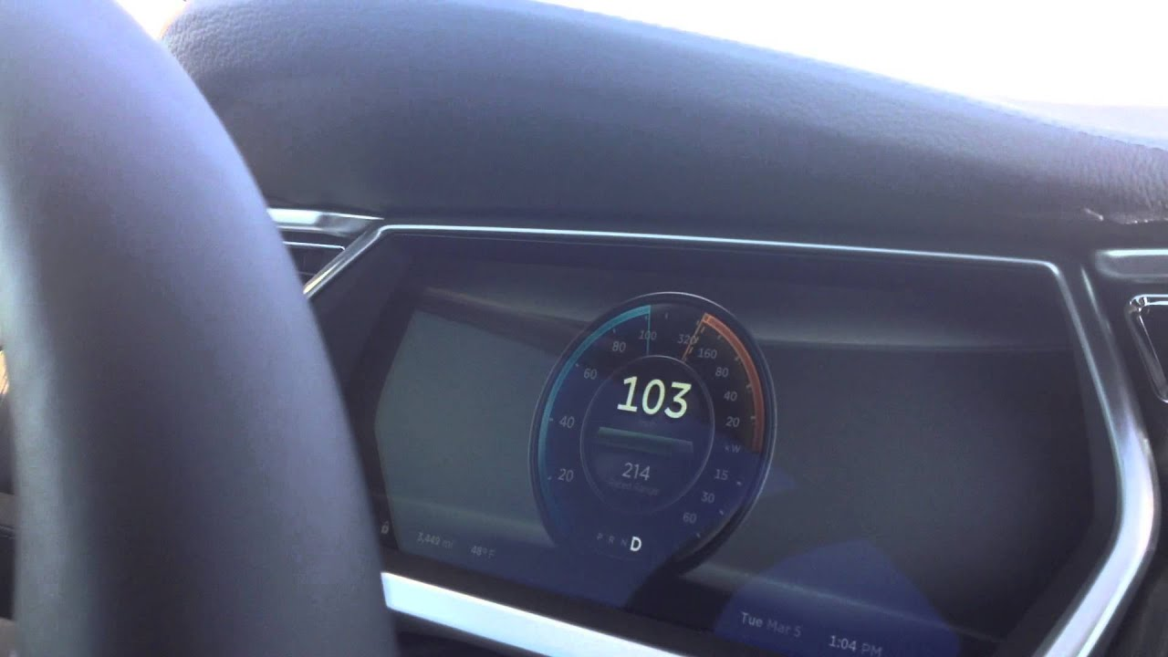 Tesla Model S Top Speed Run - YouTube
