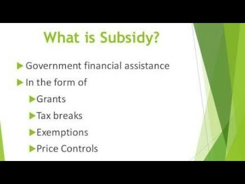 Is SUBSIDY  a |FACTOR INCOME| or |TRANSFER PAYMENT|