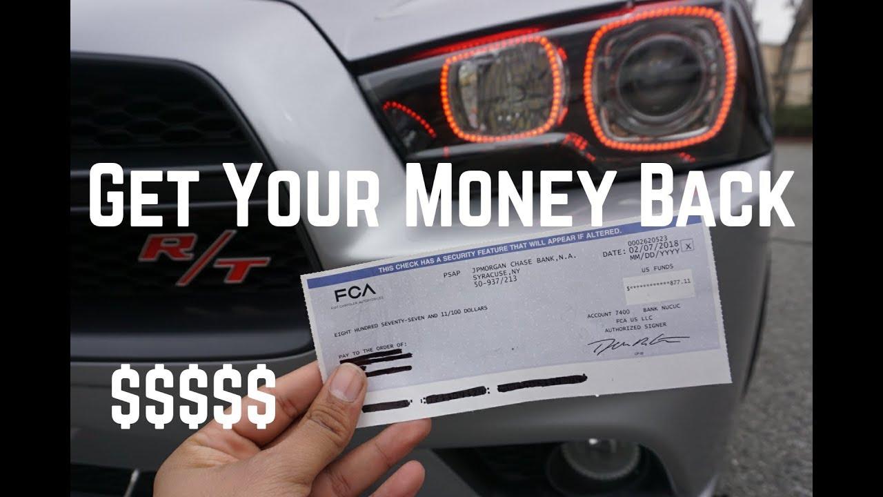 Dodge Sent Me A Check For Recall