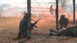 Прохождение полосы препятствий разведчиками Центрального военного округа под Оренбургом