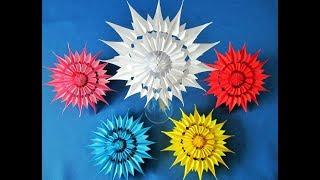 DIY: 3D Schneeflocken ( Sterne) aus Notizzettel/ 3D Snowflakes from sticky note