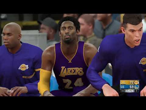 NBA 2K17 Lakers vs Warriors 3rd Quarter
