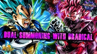 DUAL SUMMONS with Bradical! Legends Hour of Darkness Step Up - Rose + LF Vegeta! - DB Legends