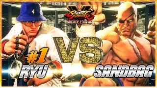 SFV AE ✪ JUSTFOG (#1 Online Ryu) vs SANDBAG (Sagat) | Ranked Sets ✪ SF5 TenSFV