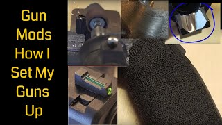 Gun Modifications | Stippling - Trigger Guard Under Cut - Finger Groove Removal - And Much More