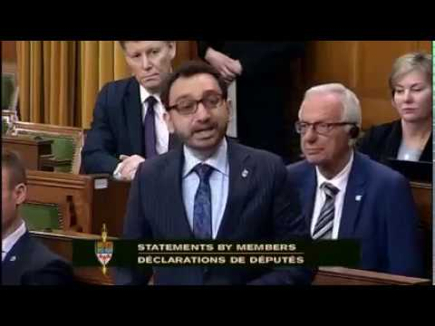 Gaby Mammone Recognized in House of Commons