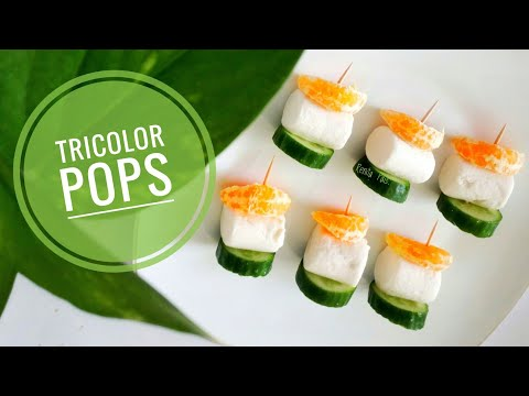 Tricolor Pops, Cooking without fire, healthy pops, independence day Special, canapes