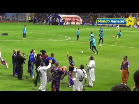 Los jugadores de Villarreal disfrutando de La Bombonera