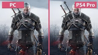 Witcher 3 – PC MAX vs. PS4 Pro Patch 1.50 / 1.51 4K UHD Frame Rate Test Graphics Comparison