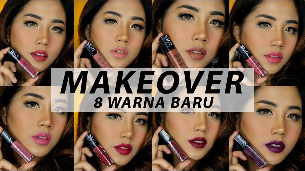 Make Over Intense Matte Lip Cream 8 Warna Baru 013 020 Swatches Makeover Lipstick Lipstik Dan Review