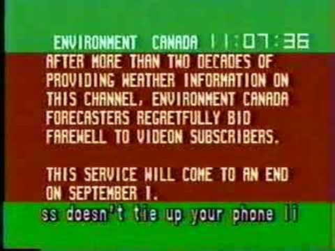 Winnipeg - Environment Canada weather channel - Goodbye message (August 30, 1999)