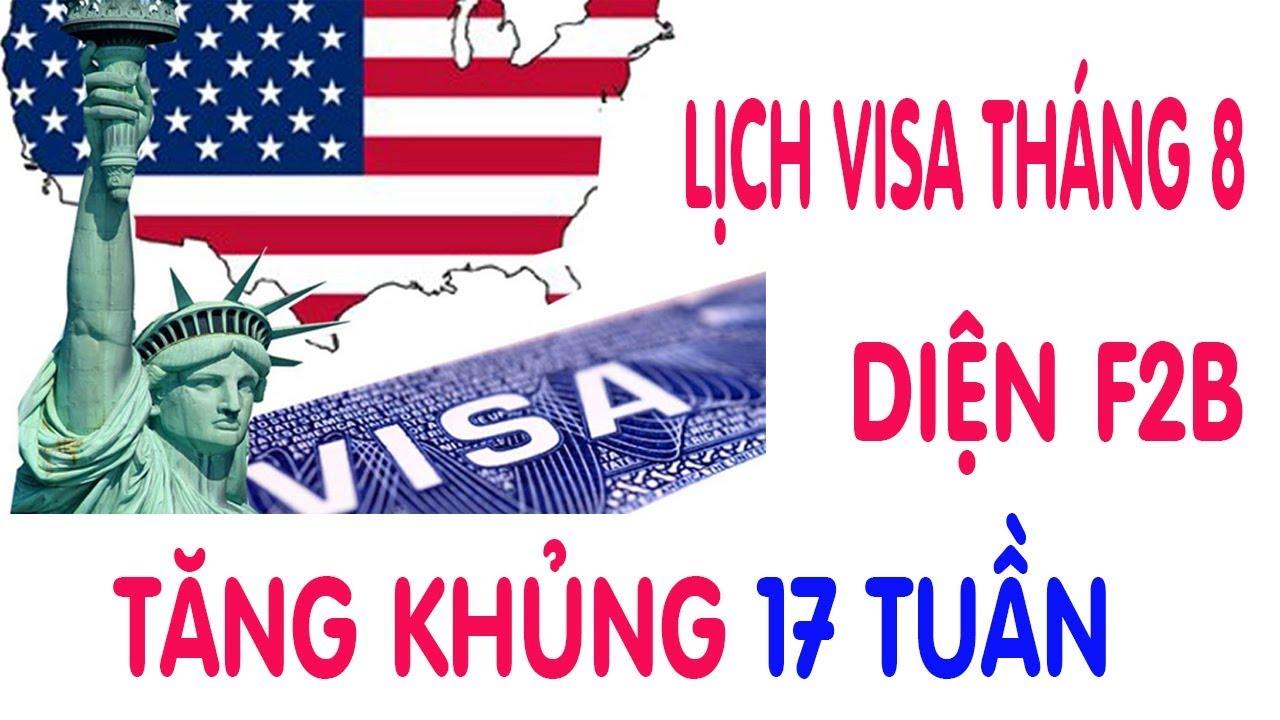 Lịch Visa Đi Mỹ Diện F2B Tăng Khủng 17 Tuần Diện F4 Tăng Không Kém