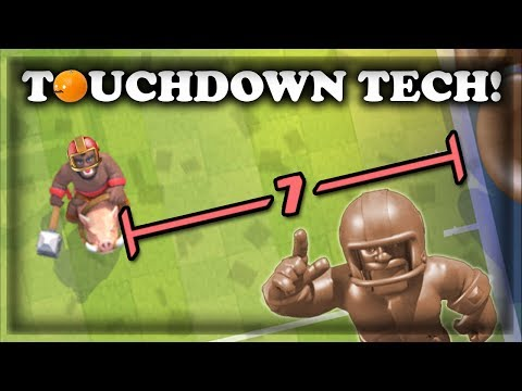 Touchdown Tech Building Placements & Gameplay | Clash Royale