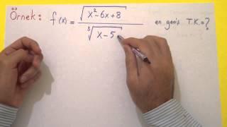 Fonksiyonun Tanım Değer Görüntü Kümesi Şenol Hoca Matematik