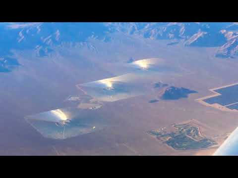 Ivanpah Solar Electric Generating System View From Above 11-8-17