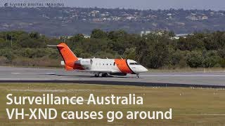 australia maritime safety authority vh xnd bombardier challenger 604 causing a go around