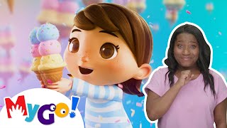 Ice Cream Song | ASL - American Sign Language | Baby Songs | Little Baby Bum