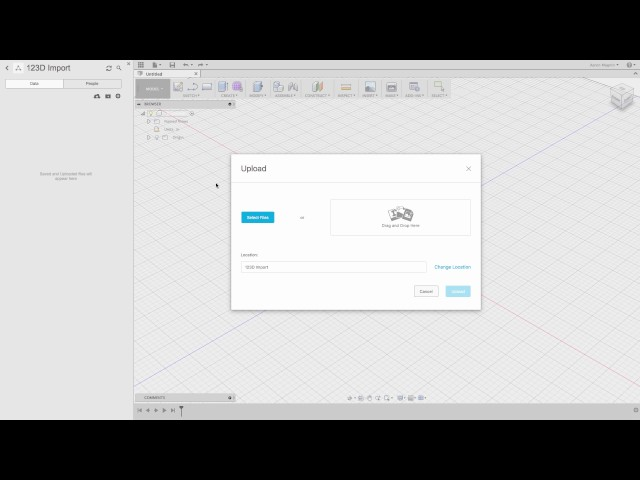 2 - Export 123D Files, Import to Fusion 360