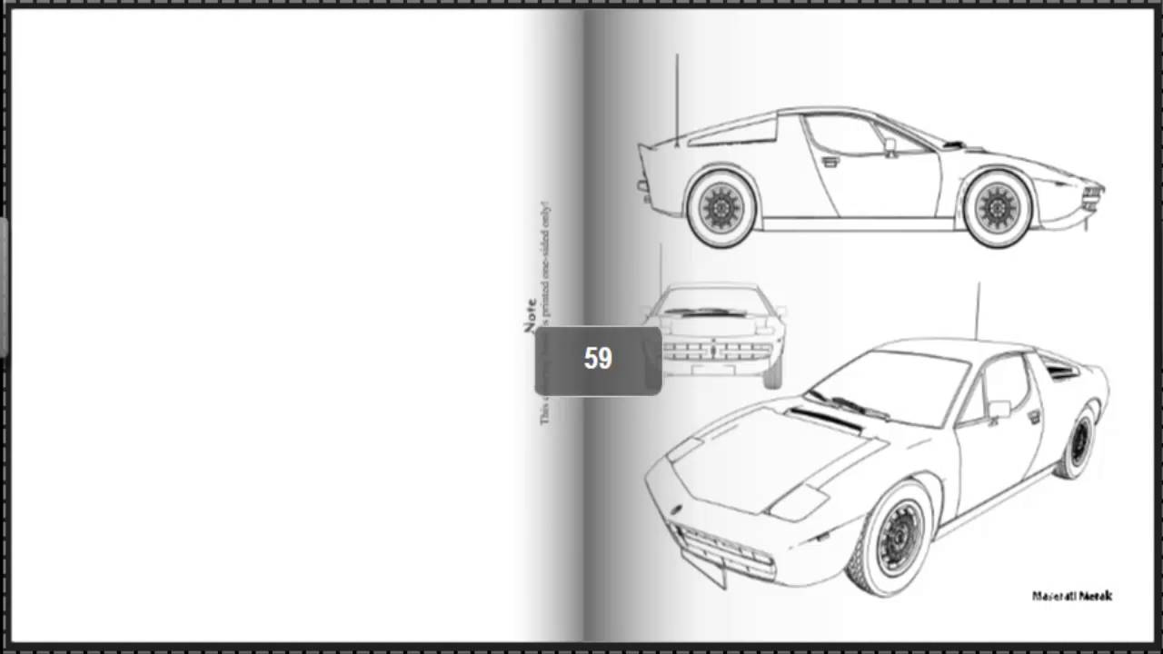 Coloring Book Classy Cars