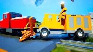 АДСКИЙ LEGO ПОЕЗД ПРОТИВ ФУРЫ НАБИТОЙ ПОДАРКАМИ В BRICK RIGS