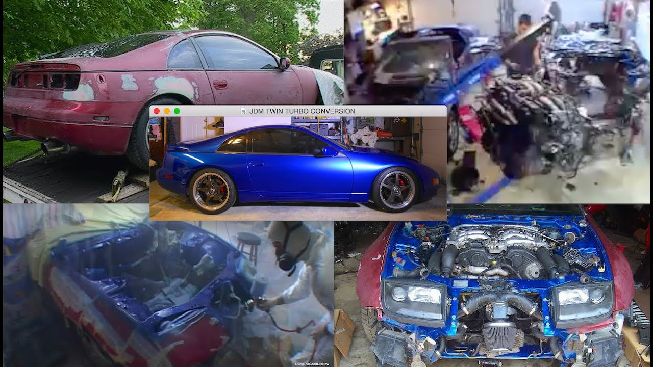 Nissan 300zx jdm twin turbo swap conversion body restoration nissan 300zx jdm twin turbo swap conversion body restoration automatic 5speed manual drift car 4k youtube vanachro Images