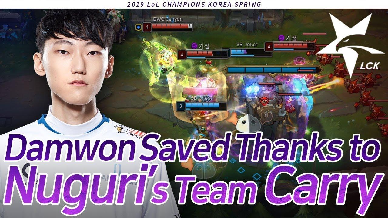 Damwon Saved Thanks to Nuguri's Team Carry : DWG vs SB [2019 LCK Highlight] Match21 Game2