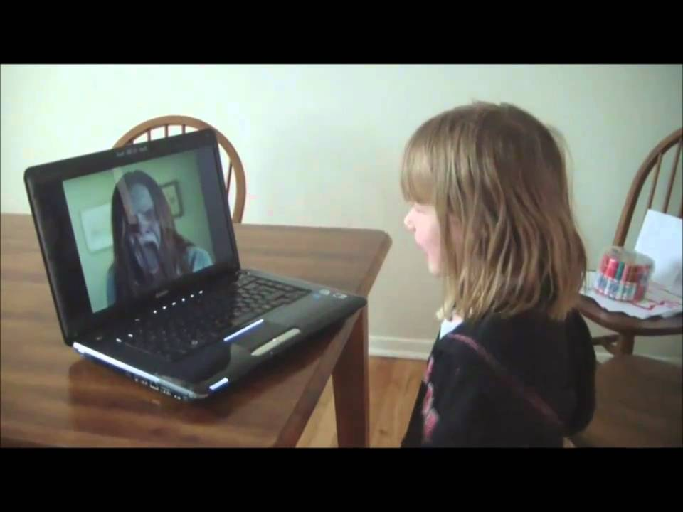 Follow dot , my sons reaction to scary monster - YouTube