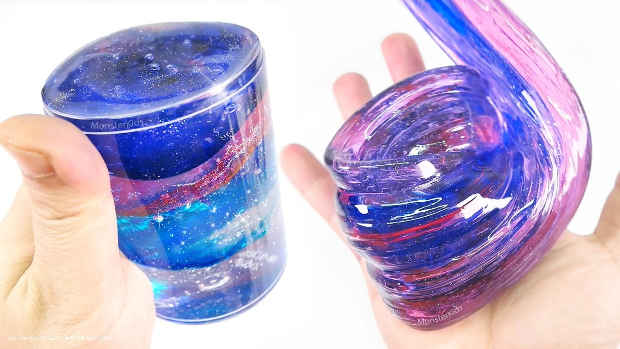 diy clear galaxy slime 2 make space glitter slime. Black Bedroom Furniture Sets. Home Design Ideas