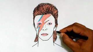 How to Draw David Bowie (1947-2016)