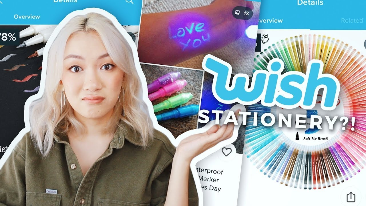 Testing Stationery from Wish!