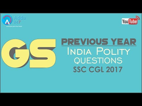 SSC CGL Previous Year Questions Of Indian Polity
