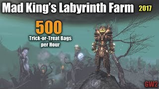 [GW2] Mad King's Labyrinth 2017; Earn 500 Trick-or-Treat Bags per hour