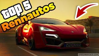 GTA 5: TOP 5  BESTEN RENNAUTOS! | RENNEN TIPPS & TRICKS  | Siimoon