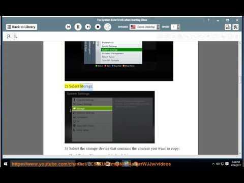 Fix System Error E105 when starting Xbox