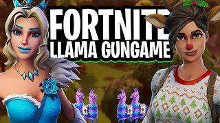 LLAMA GUNGAME 1v1v1 MINI-GAME!  - Fortnite: Battle Royale Creative (Nederlands)