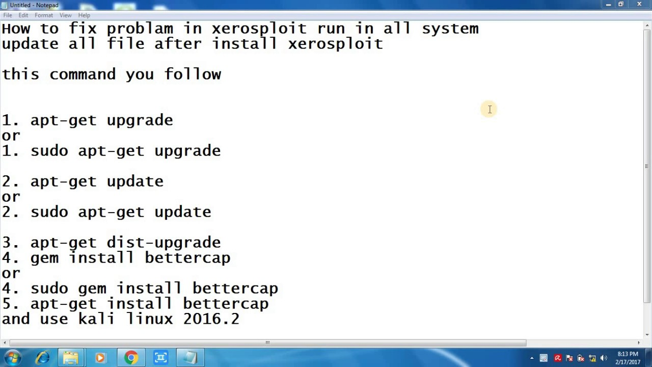 how to solve fix problem lionsec xerosploit linux