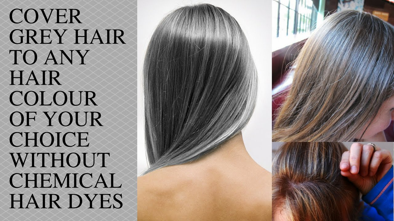 GREY HAIR / Cover your Grey Hair to any Colour (Blonde, Violet ...