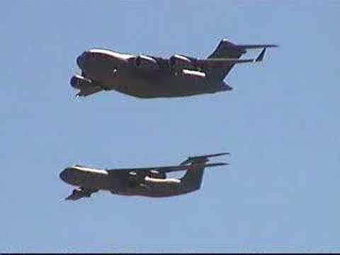 C-17 & C-141B  FLYBY (The Passing Of The Torch)