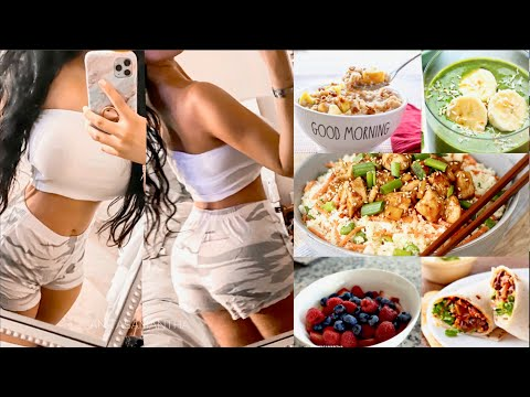 what I eat in a day to lose weight FAST |+ Quarantine Workouts | How To Burn Belly Fat & Build A Bum