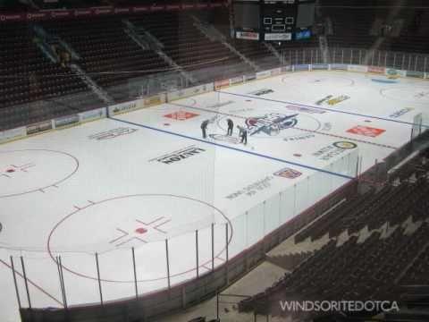 WFCU Centre Arena Prepares for 2010 Windsor Spitfires Season (time lapse)