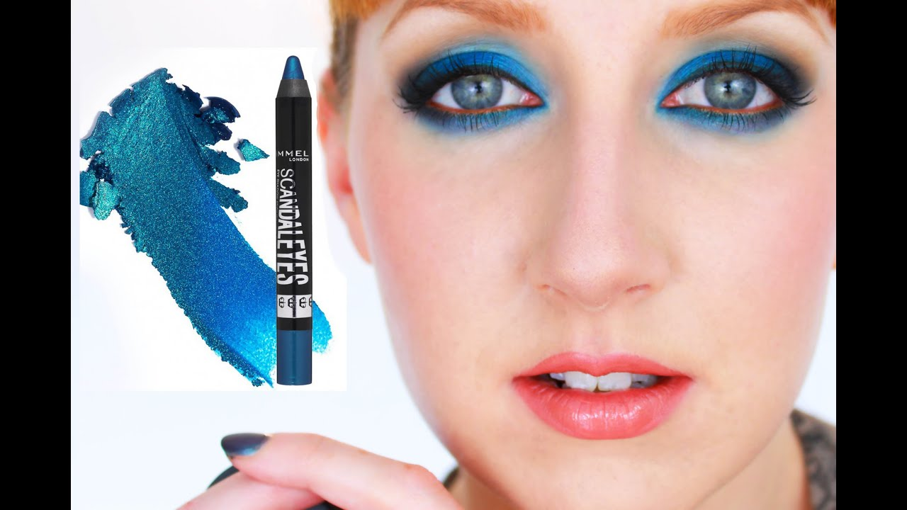 How To Rock Blue Eyeshadow!  Rimmel Scandaleyes Shadow Stick Demo  Youtube