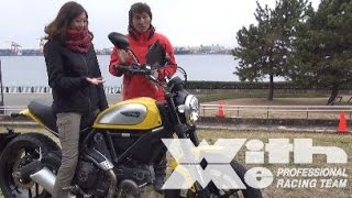 DUCATI SCRAMBLER 800 桜井未来ちゃんと行くツーリングインプレ part1|丸山浩の速攻バイクインプレ