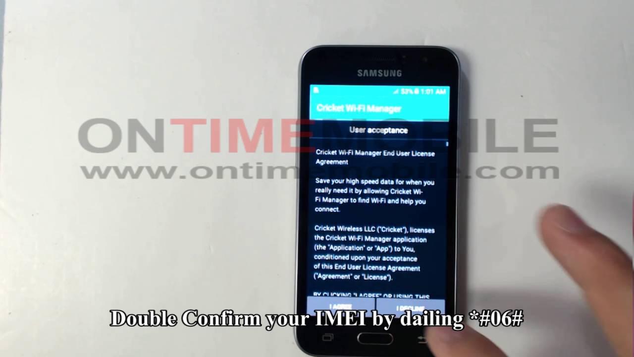 How to unlock or Check IMEI on Samsung Galaxy Amp 2 J120AZ Cricket