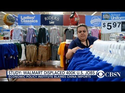 Walmart imports from China drain 400,000 jobs from U.S.