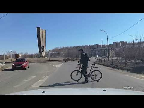 Запись из регистратора по улицам Новоуральска.