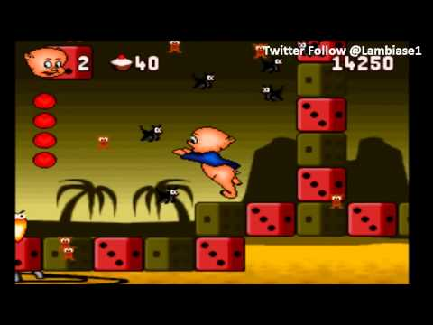 Porky Pig's Haunted Holiday (SNES) Level 5 The Alps