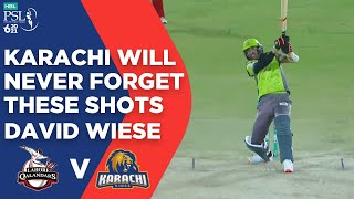 PSL 2021 | Karachi Will Never Forget These Shots | David Wiese | Lahore  vs Karachi  |Match 11 |MG2E