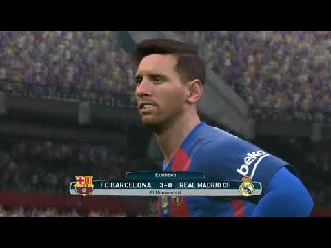PES 2017 PC Gameplay  (FC Barcelona VS Real Madrid) Superstar