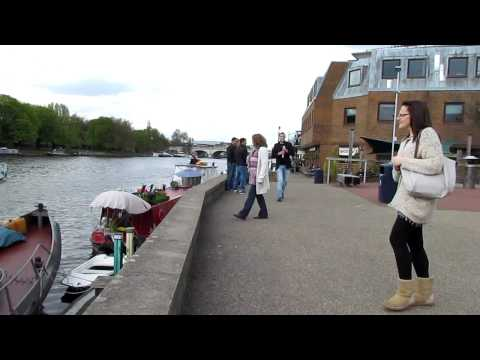 Riverside of Thames in Kingston upon Thames (with jokes)